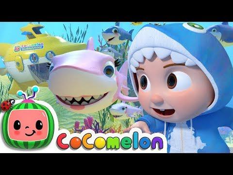 Baby Shark Submarine | CoCoMelon Nursery Rhymes & Kids Songs - Видео онлайн