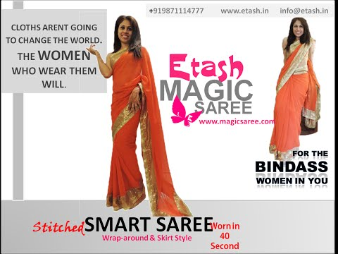 Etash Magic Saree   Worn in 40 Second HD