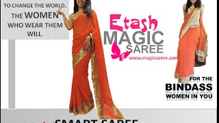 Etash Magic Saree   Worn in 40 Second HD