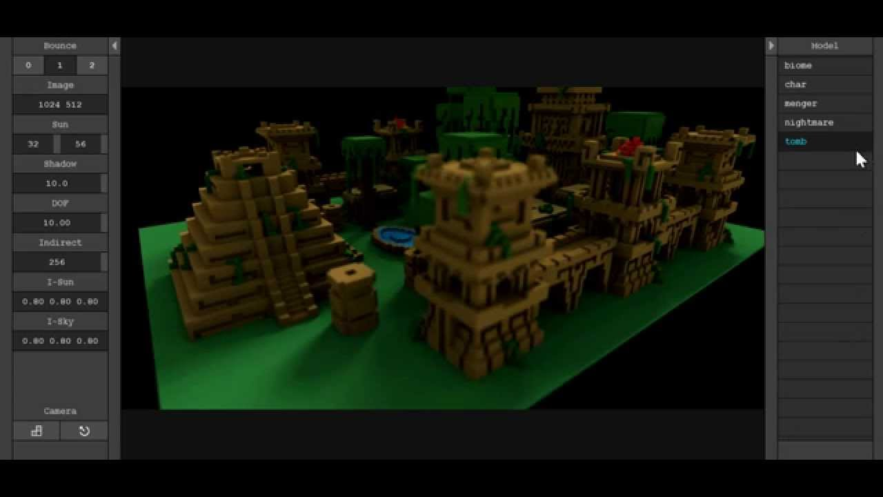 MagicaVoxel Renderer Preview