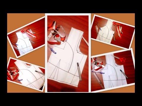 2b29fd2a25622 Single   Double katori cut blouse drafting pattern - YouTube