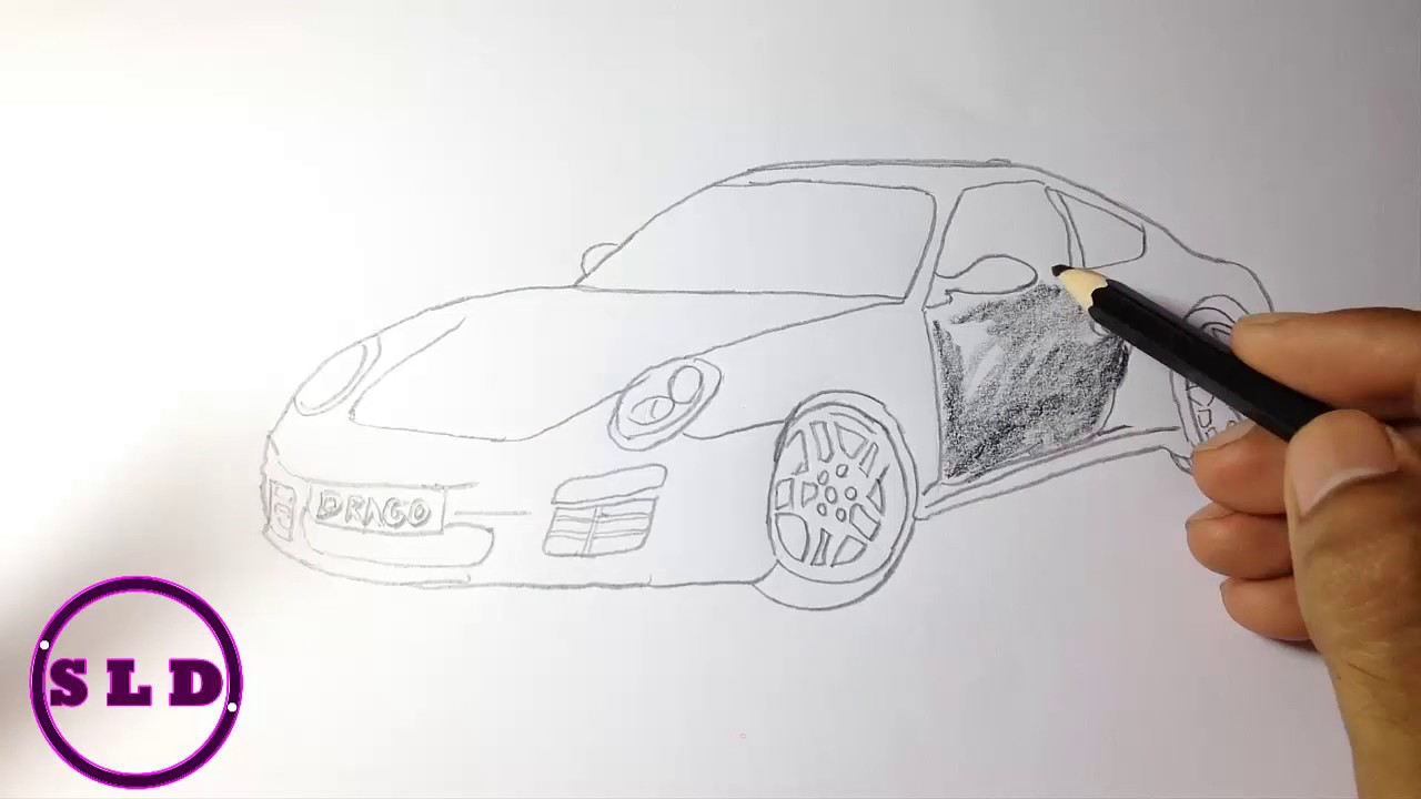 how to draw a car step by step on paper easy cartoon a car drawing sld