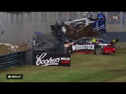 Todd Hazelwood's massive Wilson Security Sandown 500 crash