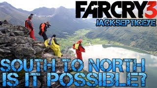 Far Cry 3 - Wingsuit jump from south island to north - Is it possible?