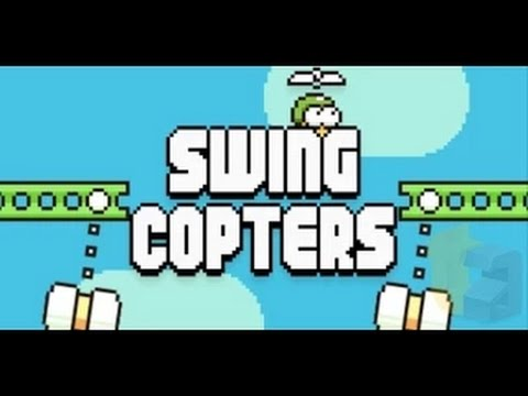 Swing Copters Gameplay - Flappy Bird Creator Dong Nguyen's New Game