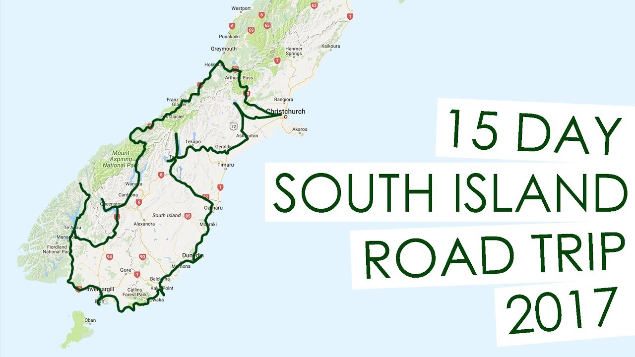 New Zealand Road Map South Island.15 Day South Island New Zealand Road Trip April 2017 Blogs Itinerary In Description