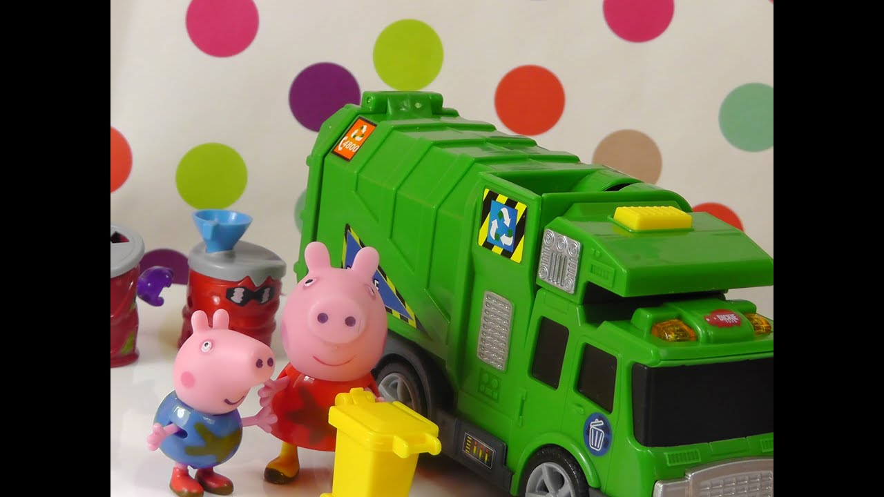 Peppa Pig Meets Garbage Truck Toys For Children YouTube