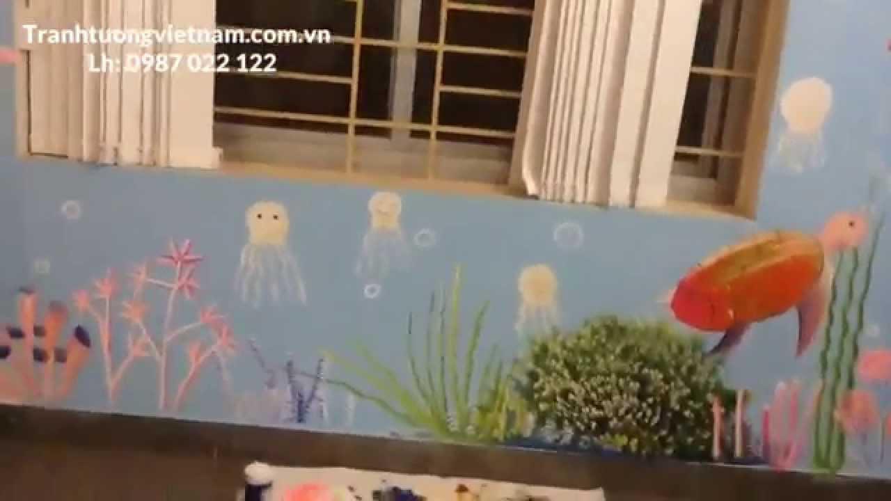 Vẽ tranh tường mầm non – VALUE – Số 26 khu biệt thự 1 bán đảo Linh Đàm