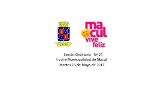 Concejo Municipal de Macul Nº21 - 23/05/2017
