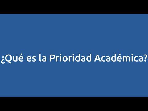 ¿Qué es la prioridad académica?