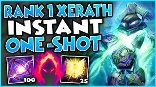 #1 XERATH WORLD INSTANT ONE-SHOT BUILD! (DARK HARVEST NUKE) - League of Legends