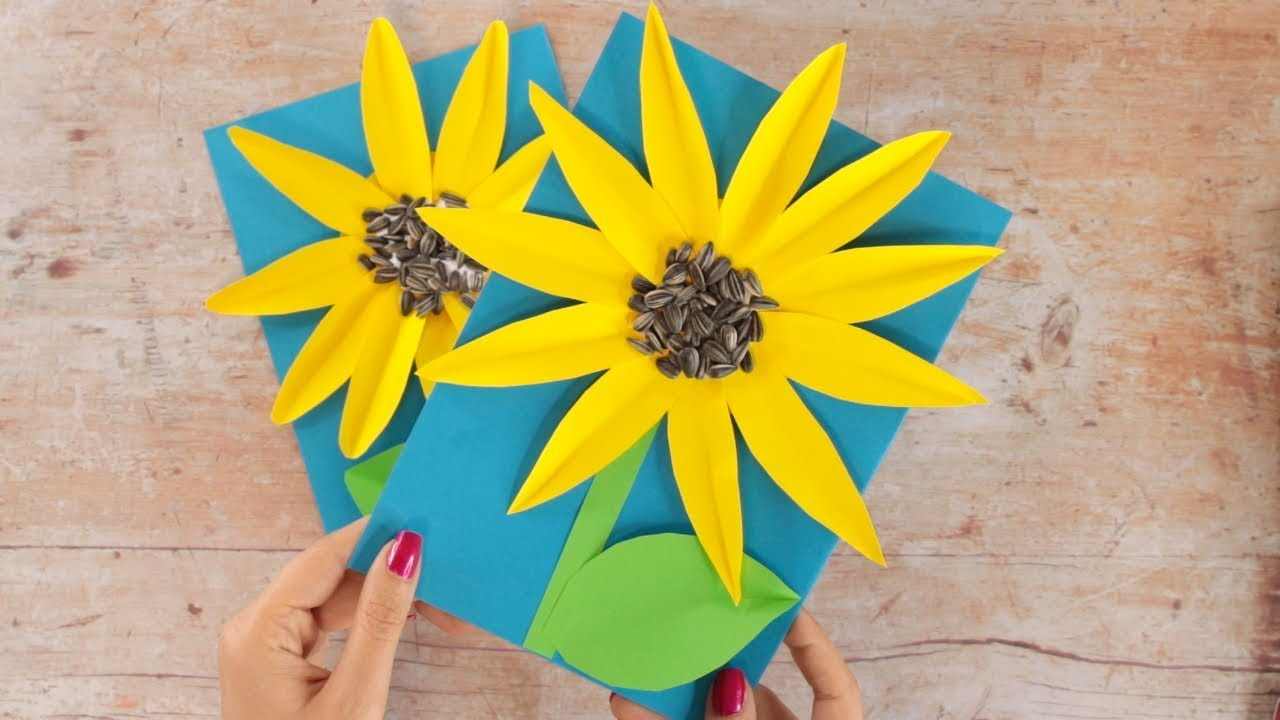 While it's tempting to curl up with a laptop or fire up netflix on a day off, crafts are another fun way to get the creative juices flowing. Paper Crafts For Kids Easy Sunflower Paper Craft For Kids Youtube