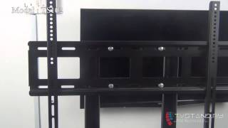"Portable Light & Low Height Tv Stand Mount Upto 32"" - 55"" - Ts102-blk"