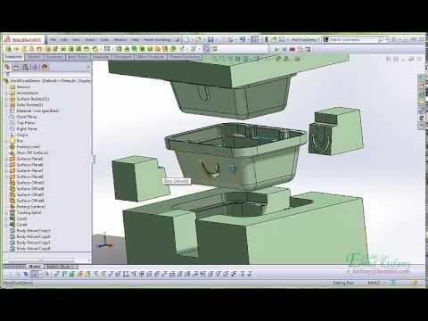 Mold Tools in SolidWorks, أدوات القوالب في سوليدوركس thumbnail