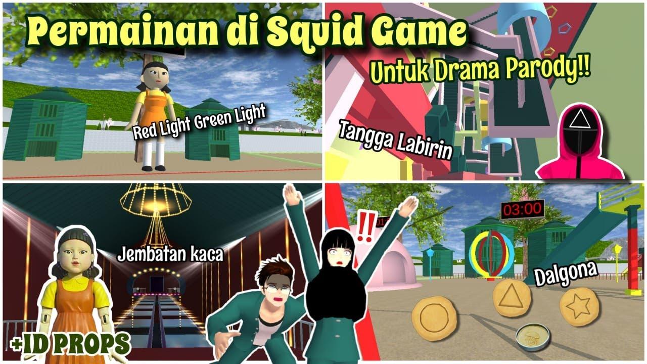 Review & Bagiin ID PERMAINAN-PERMAINAN DI SQUID GAME, UNTUK DRAMA PARODY!!   SAKURA SCHOOL SIMULATOR