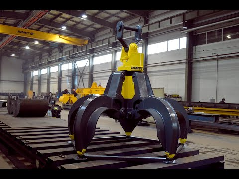 Новая разработка ДИМЕТ– гидравлический грейфер для перегружателей лома