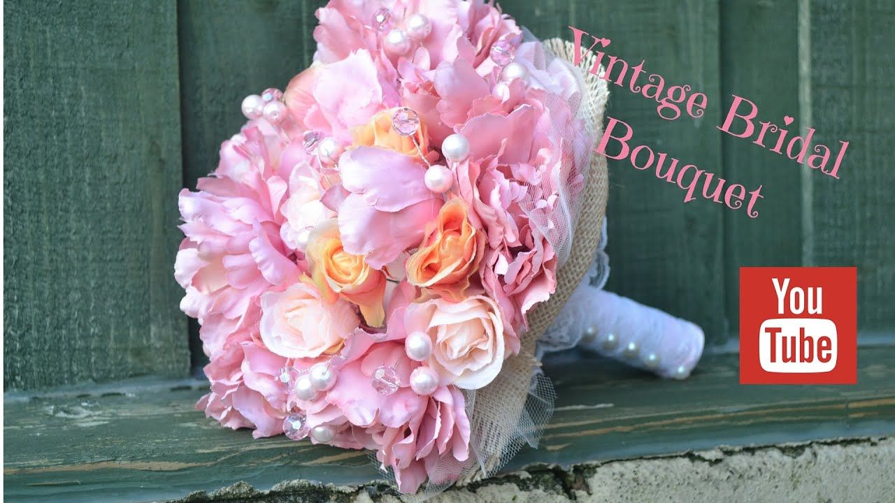 Diy bridal bouquet how to create your own vintage wedding flowers diy bridal bouquet how to create your own vintage wedding flowers youtube izmirmasajfo
