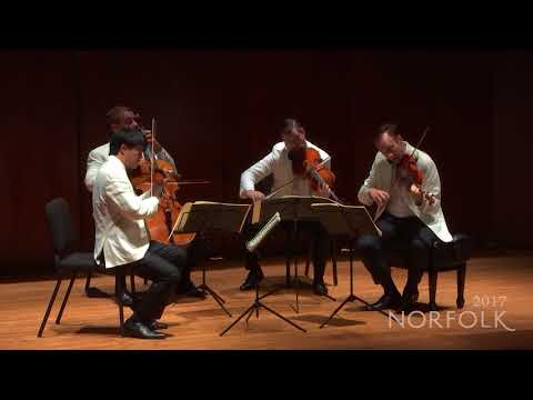 Norfolk Chamber Music Festival 2017 - Miró Quartet - from Dvořák: String Quartet in e Minor, Op 34