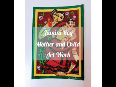 Jamini Roy Art Work | Acrylic painting for beginners | | Indian modern art | Indian folk art | Easy|
