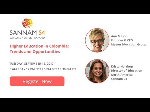 Webinar Recording: Higher Education in Colombia  - Trends and Opportunities