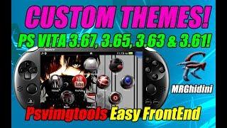 CUSTOM THEMES! PS VITA 3.67, 3.65, 3.63 & 3.61! Psvimgtools Easy FrontEnd!
