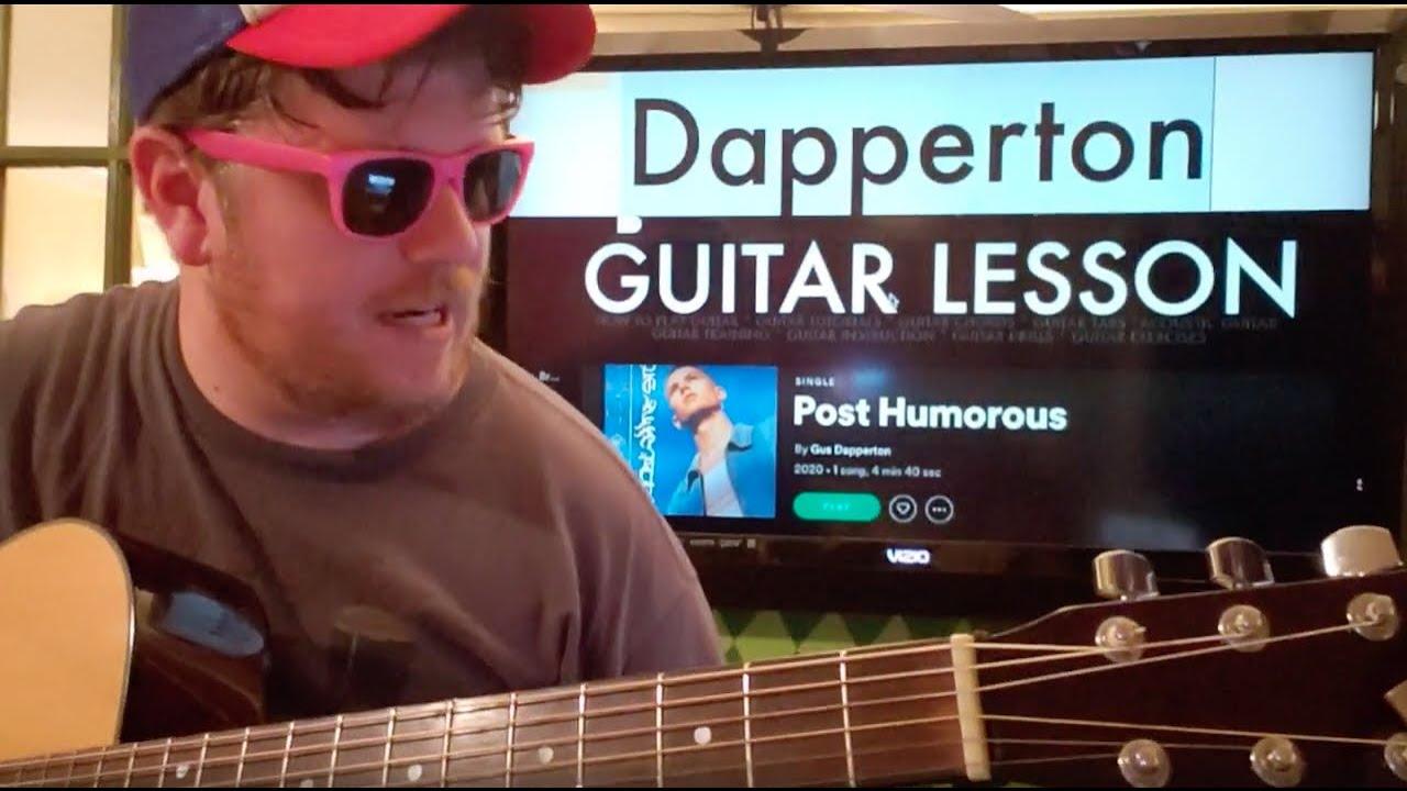 How To Play Post Humorous Gus Dapperton // guitar lesson beginner tutorial easy chords