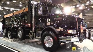 2017 Volvo VHD84B 200 Dump Truck with D13 455hp Engine - Walkaround - 2017 Expocam Montreal