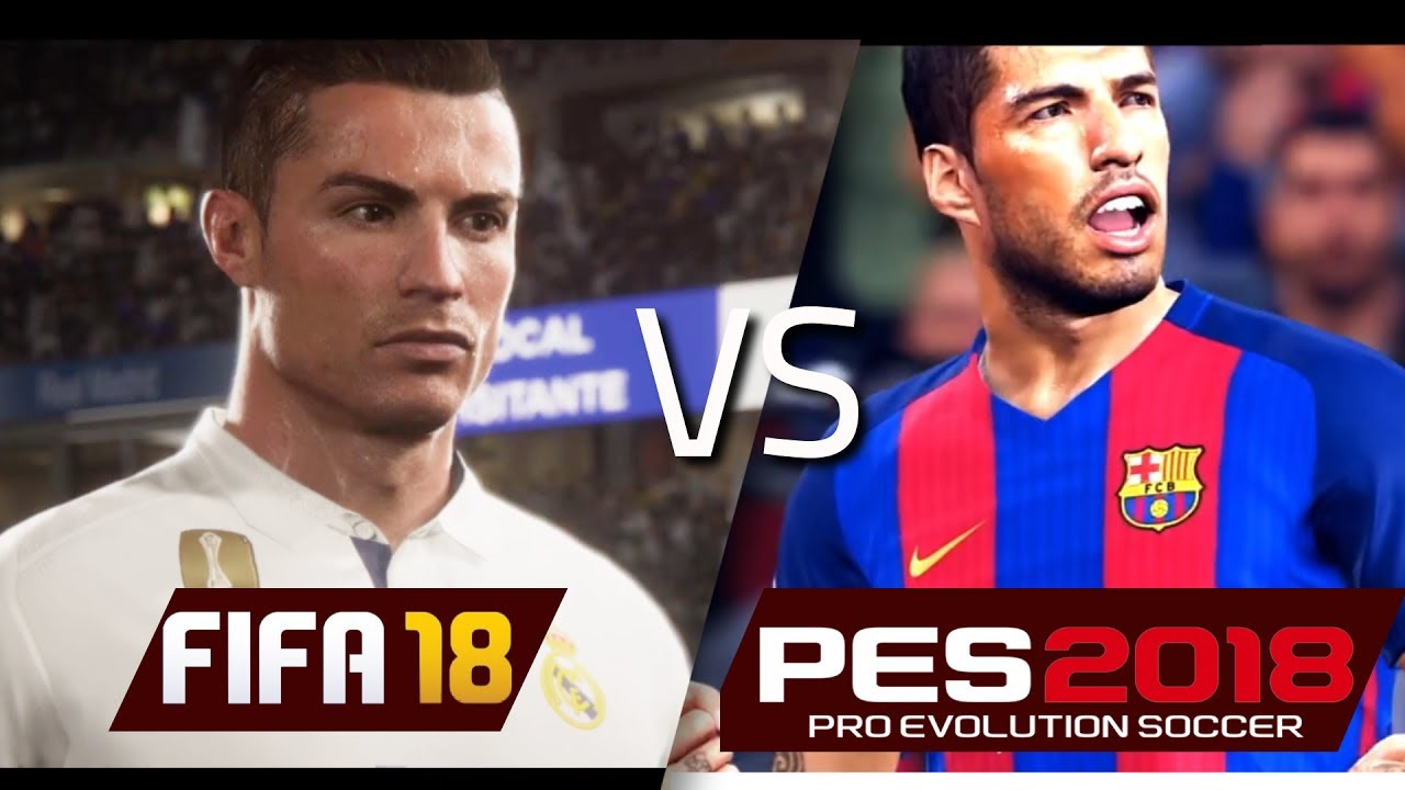 Kết quả hình ảnh cho FIFA 18 vs PES 2018: What's new?