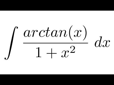 Integral of arctan(x)/(1+x^2) (substitution)