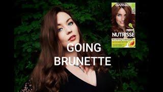 BLONDE TO BRUNETTE AT HOME- Garnier Deep Chestnut