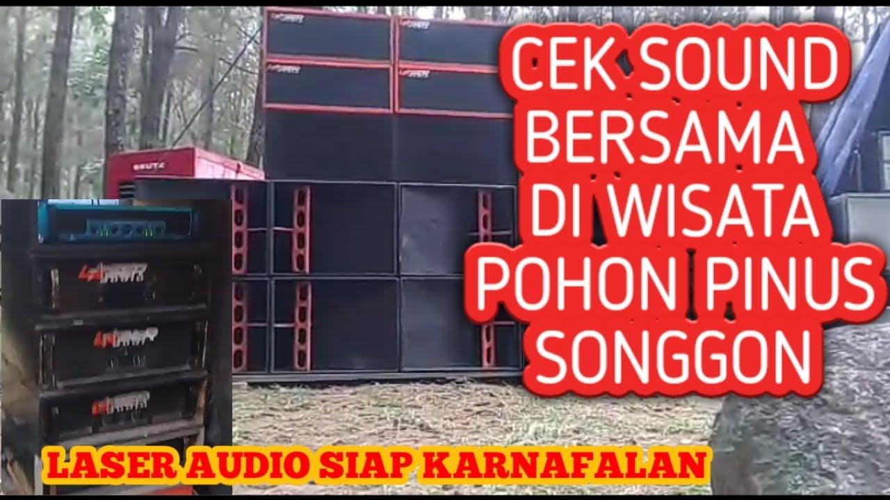 LASER IKUT CEK SOUND BERSAMA DI HUTAN PINUS SONGGON