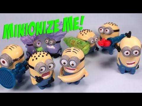 Despicable Me 2 McDonalds Happy Meal Toys Complete Set Review