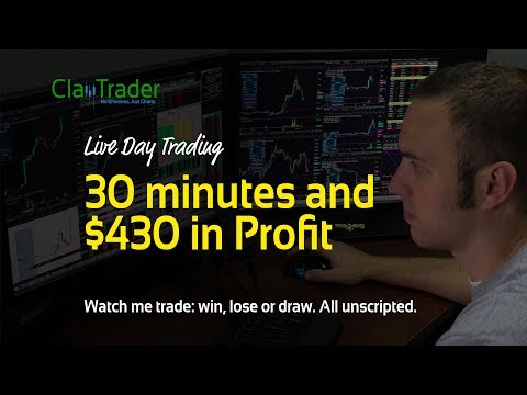 Live Day Trading - 30 minutes and $430 in Profit