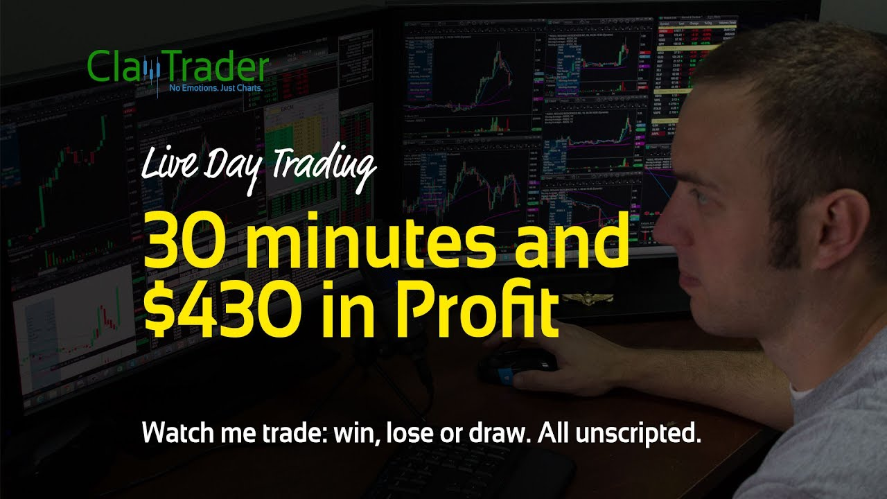 live day trading - 30 minutes and  430 in profit