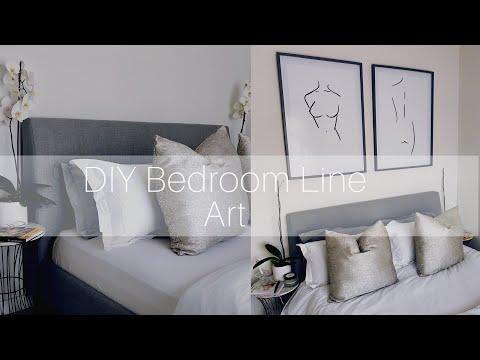 DIY: Bedroom Line Art | South African DIY Youtuber