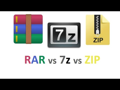 ZIP Vs RAR Vs 7z Best Compressor ! WinRAR Vs 7z