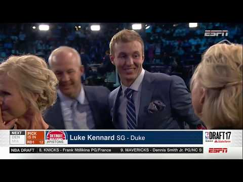Detroit Pistons select Luke Kennard 12th overall in the 2017 NBA Draft