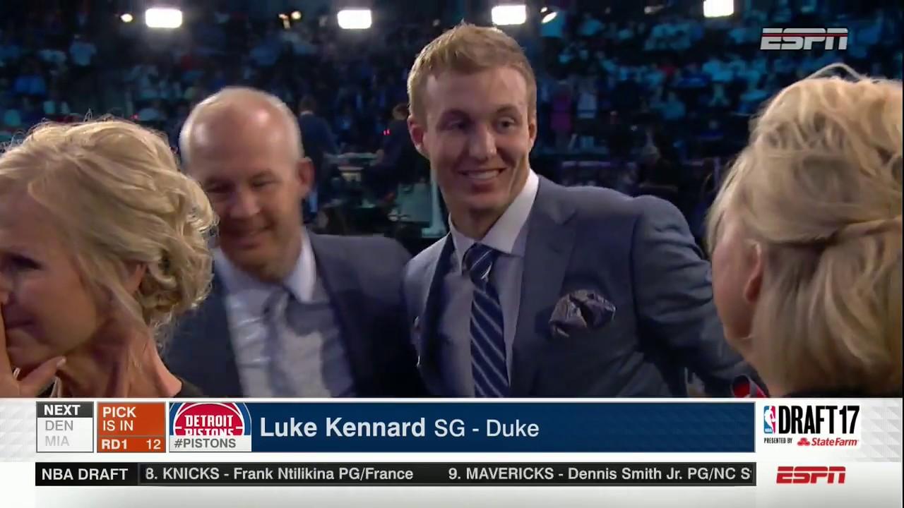 Pistons take Duke's Luke Kennard with 12th overall pick in 2017 NBA draft