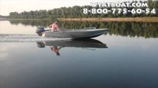 Вятбот 390М - алюминиевая моторная лодка(Алюминиевая моторная лодка Вятбот 390М для рыбалки и покатушек с ветерком! Купить лодку можно у производител..., 2015-08-28T12:01:06.000Z)