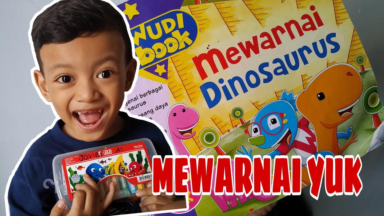 mewarnai gambar dinosaurus lucu king javier