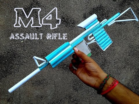 How to Make a Paper M4 Assault Rifle (that...