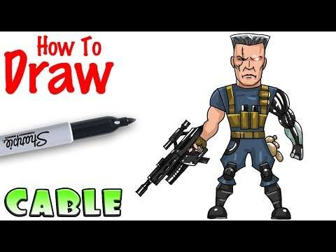 How to Draw Cable | Deadpool 2