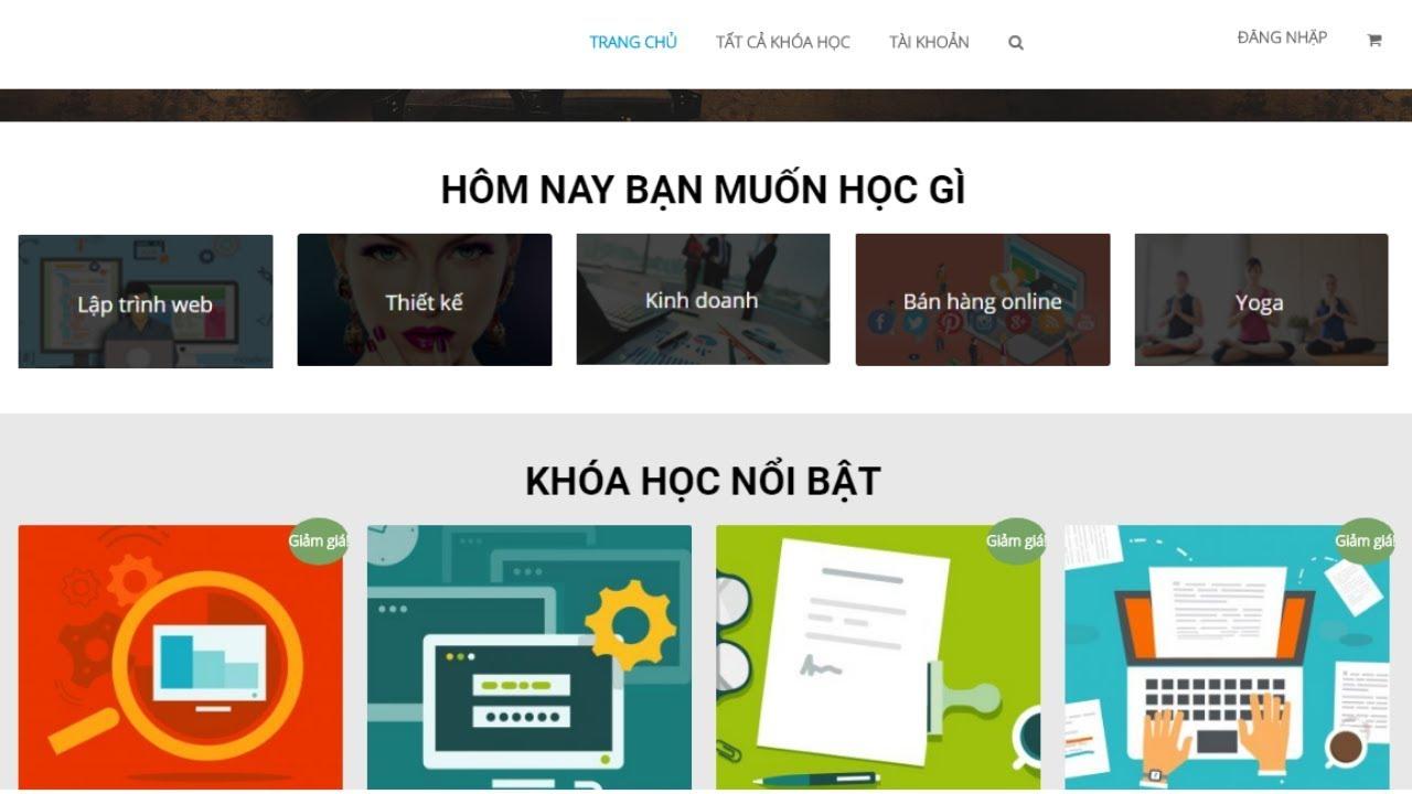 Hướng Dẫn Thiết Kế Web Học Online Trực Tuyến Elearning