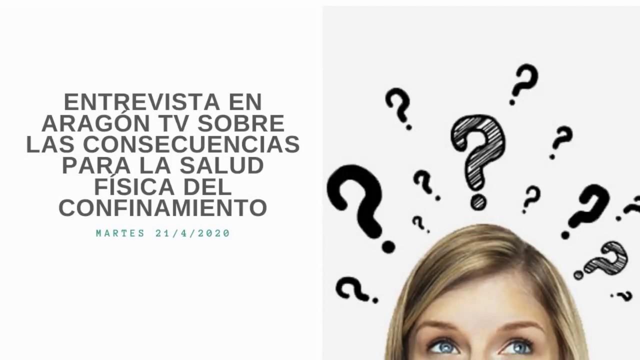 Entrevista de televisión efectos sobre la salud del confinamiento