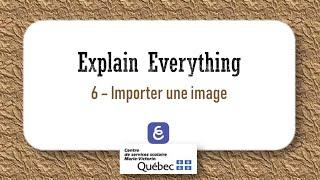 6  Comment importer une image