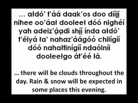 Weather Report in the Navajo Language