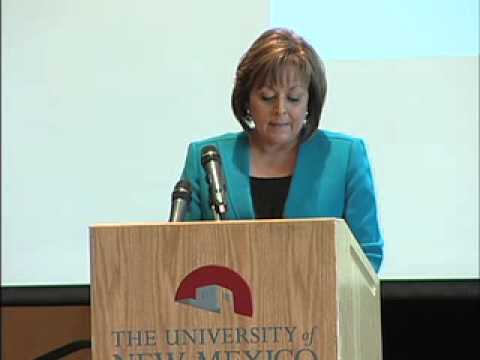 Governor Martinez address the UNM Economic Development Summit