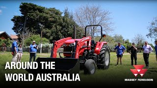 Children's Farm Tractor Handover
