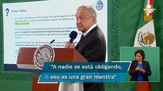 El presidente López Obrador indicó que desde 2014 se estableció una limitación para las operaciones aéreas en el Aeropuerto Internacional de la Ciudad de México