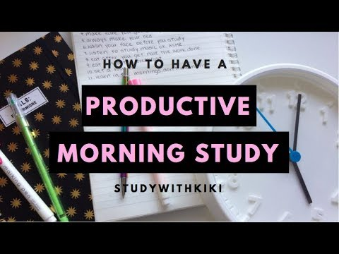 11 Study HACKS to have a PRODUCTIVE Morning + Study | StudyWithKiki